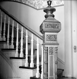 Dr. J.C. Davie family home on Rockland Court, newel post