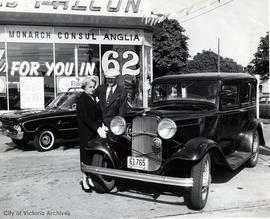Mr. and Mrs. John R. Scott with their 1932 Model B Ford