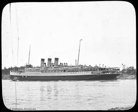 Steamer Princess Marguerite leaving Victoria Harbour