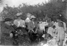 "Tea party at ""Marifield"" Bishop Edward Cridge residence at 238 Government Street"