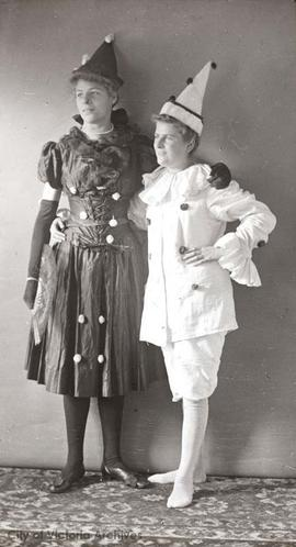 Ivy and Dorothy Lawrie in costume?
