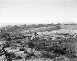 Construction of the Smith Hill Reservoir, Oct 7, 1908