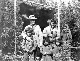 Agnes Deans Cameron and a First Nations family, Fort Vermillion