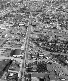 Aerial view of Douglas Street looking south from Burnside Road