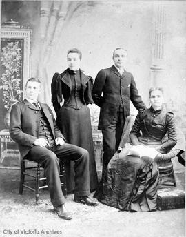 McPherson family. L to R: Thomas S. McPherson, sister, brother and mother Mrs. McPherson