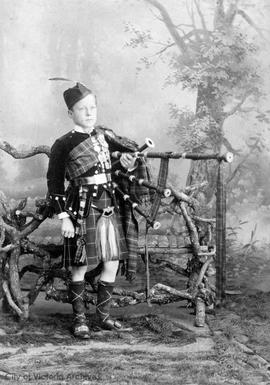 Jim MacKenzie with bagpipes