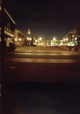 Centennial Square at night