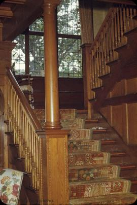"Lyman Duff family home at 1745 Rockland Avenue known as ""Ashton"", stairs"