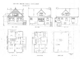 Plan of house, Fairfield Road, Victoria, B.C., for Mrs. A.J. Garesche