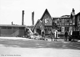 Oak Bay Beach Hotel, 1175 Beach Drive, after the fire