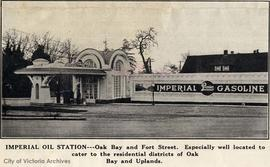 Imperial Oil gas station, Oak Bay Avenue and Fort Street