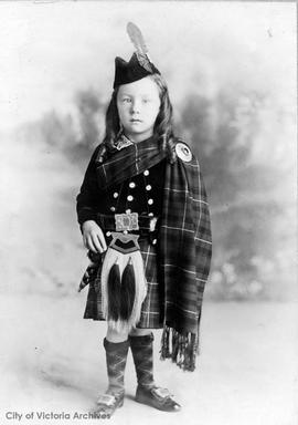 Amy MacKenzie in Scottish garb