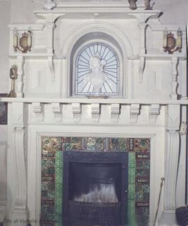 "William H. Bainbridge family home at 1936 Hampshire Road known as ""Jolimont"", fireplace"