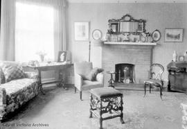 815 Linden Avenue, Mr. and Mrs. Cochran residence, interior