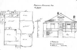 Proposed residence for Mr. Rhode, Lot 15, Block 3, Alpha Street