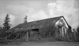 Dilapidated buildings at Colwood Farm, one of the original Hudson's Bay Company farms managed by ...