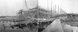 Shipyard (possibly Cholberg) Lime Bay. Panorama part 1 of 2