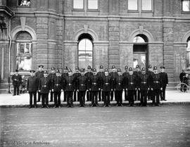 Victoria Police Department members in front of City Hall