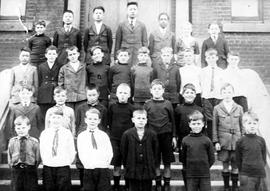 Boy's Central School. Barton Alexander middle row, third from left.