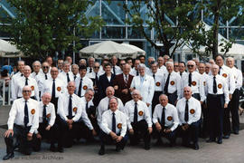 Arion Male Voice Choir at Expo 86 following their performance at the Plaza of Nations