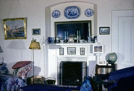 Dr. Herman M. Robertson family home at 1549 Clive Drive, living room