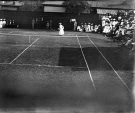 Women's lawn tennis match