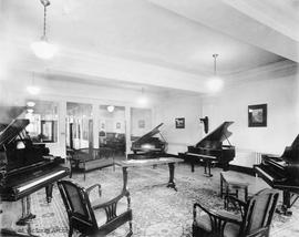 Fletcher's Music Store, piano department