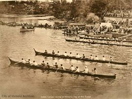 First Nations canoe races at the Gorge Regatta