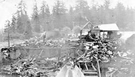 Sweeney's Cooperage on Ellery Street, Esquimalt destroyed by fire on May 10, 1922