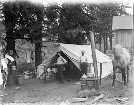 William Gower and Fernie Hough camping at Hood River