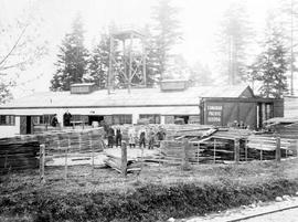 Sweeney's Cooperage on Ellery Street, Esquimalt.  Built 1912, destroyed by fire 1922