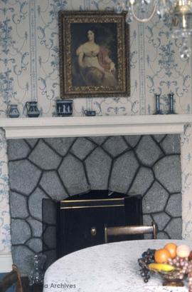 Edgar Fleming family home at 1121 Munro Street, fireplace