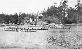 First Nations canoe race on the Gorge