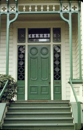 "John Teague family home at 1902 Cook Street known as ""Rose Villa"", door"
