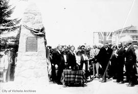 Unveiling of the Fort Victoria Memorial Cairn on the causeway
