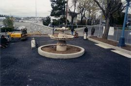 Rotary Welcome garden at Ogden Point - fountain construction