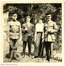 William (Bill), Cherry, Arthur, and John Rochfort in Folkestone, England
