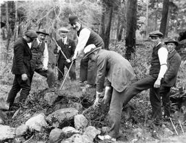 BC Natural History Society opening cairn at Pedder Bay