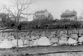 1626 Rockland Avenue E.V. Bodwell home on far right and 1630 Rockland Avenue. Leasowes third from...