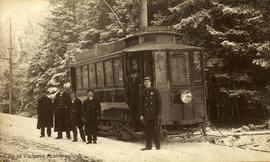 British Columbia Electric Company (BCER) No. 4 Streetcar on Esquimalt Road