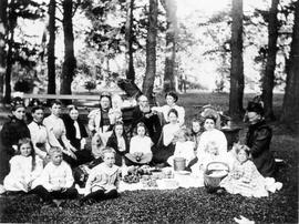 Group having a picnic