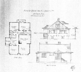 Plan of house for H.T. Knott Esq., Victoria, B.C.