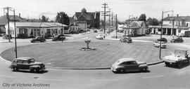 Roundabout or traffic circle at the intersection of Douglas Street, Government Street, Hillside A...
