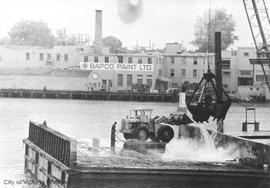 Dredging Inner Harbour near Bapco Paint