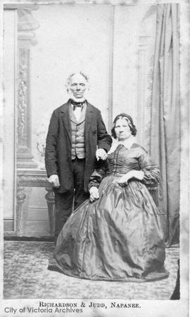 Unidentified couple, possibly Peter Steele's grandparents