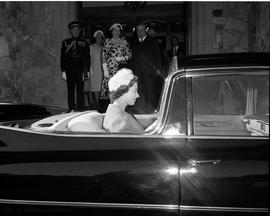 Queen Elizabeth II in car