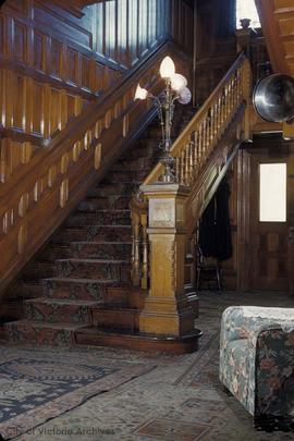 "William J. Pendray family home at 309 Belleville Street known as ""Loretto Hall"", stairs"