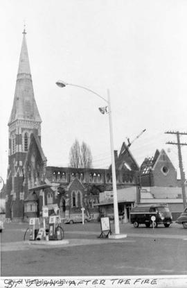 St. John's Church, 1611 Quadra Street after the fire