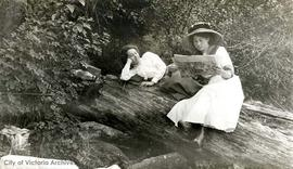 Women reading. Possibly members of the McConnell family