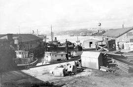 Island Tug and Barge Company docks at 900 Wharf Street (foot of Courtney)